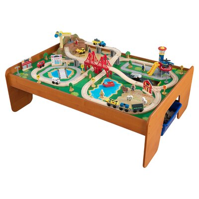 Images for kidkraft ride around town train set with table 17836 ...