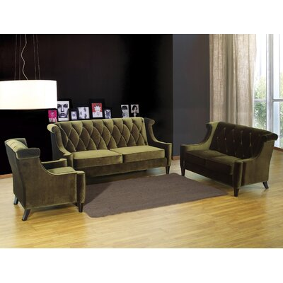 Armen Living Barrister Velvet Living Room Collection