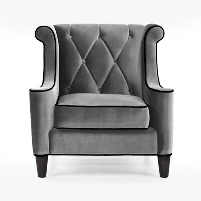 Armen Living Barrister Velvet Chair