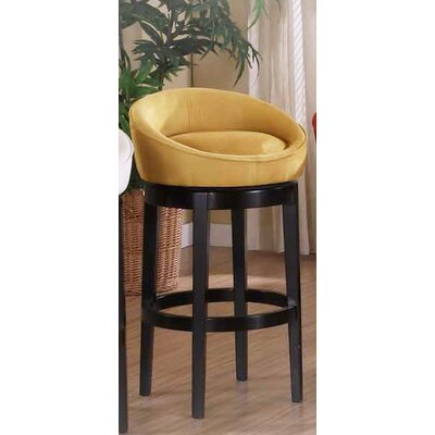 Igloo Microfiber Swivel Barstool in Yellow