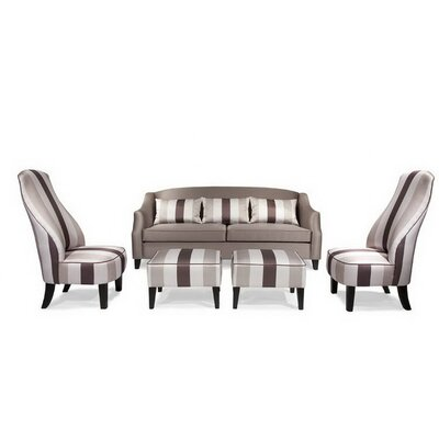 Armen Living Garbo Sofa and Chair Set