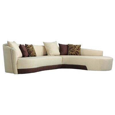 Modern Two-Tone Sectional