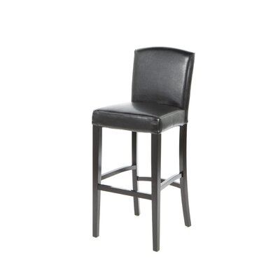 Armen Living Melbourne Stationary Barstool in Black