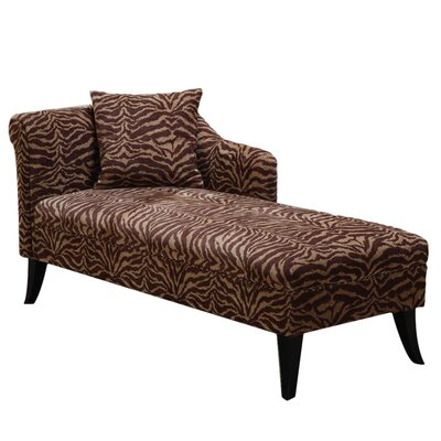 Chaise lounges wayfair buy leather chaises for Armen living patterson chenille chaise lounge
