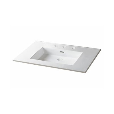 "Ronbow 24"" Ceramic Sink Vanity Top with Overflow"