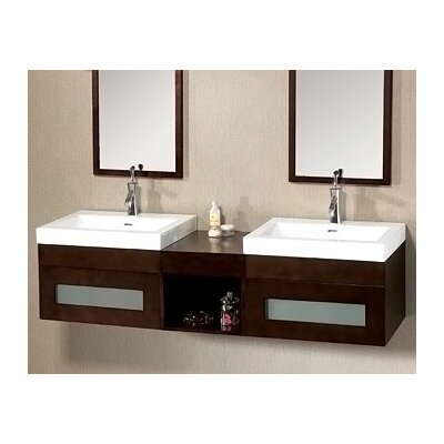 "Ronbow Modular 61"" Shelf Brige Wall Mount Drawer Bathroom Vanity Set"
