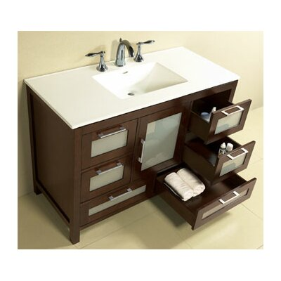 athena 49 bathroom vanity set features contempo collection vanity