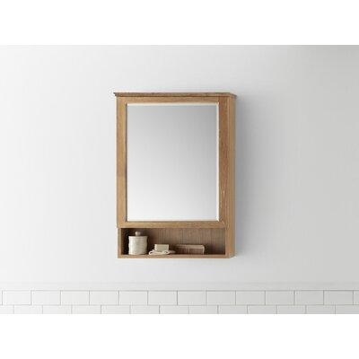 Solid wood bathroom cabinet wayfair for Wood frame medicine cabinet
