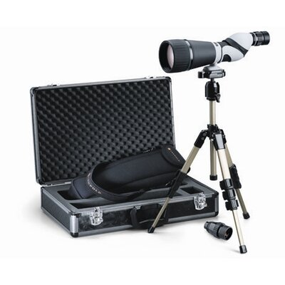 Kenai 30x 25-60x80mm Straight Spotting Scope Kit in Gray / Black