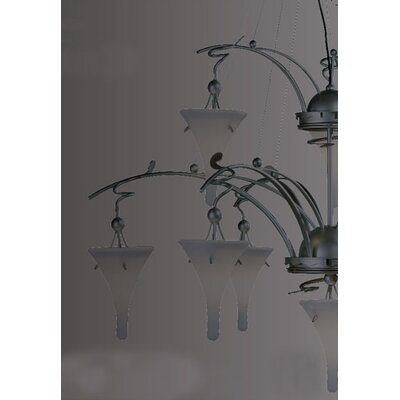 Lamp International Goccia Ten Light Chandelier