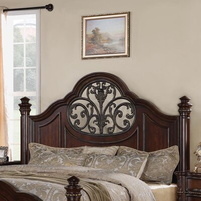 Wynwood Furniture Heritage Manor Low Poster Headboard