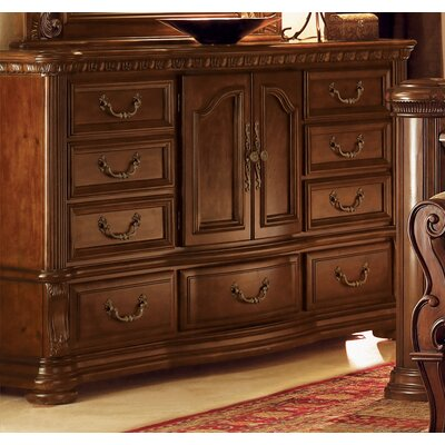 Wynwood Furniture Granada 9 Drawer Combo Dresser