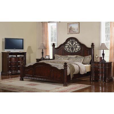 Wynwood Furniture Heritage Manor Low Poster Bedroom Collection