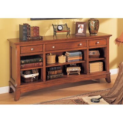 Wynwood Furniture Waldsworth Console Bookcase in Autumn Cherry