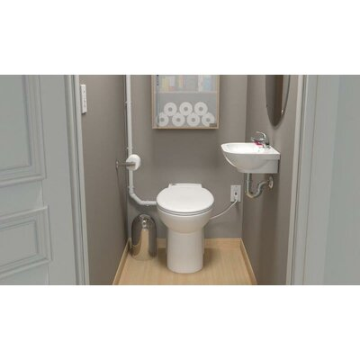 Saniflo Sanicompact 48 Elongated 1 Piece Toilet