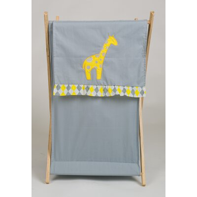 Pam Grace Creations Argyle Giraffe Laundry Hamper