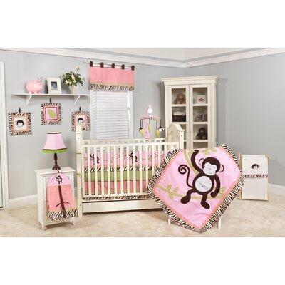 Jolly Molly Monkey Crib Bedding Collection