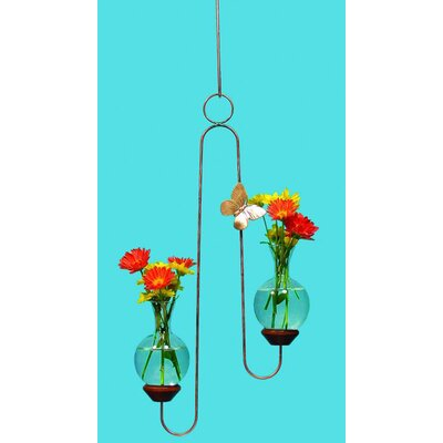 The Brass Butterfly Hanging Double Plant Rooter