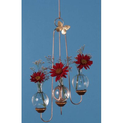 The Brass Butterfly Hanging Triple Plant Rooter