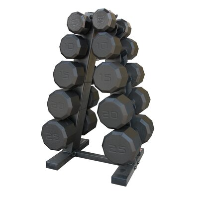 Cap Barbell 150 lbs Eco Dumbbell Set with Rack