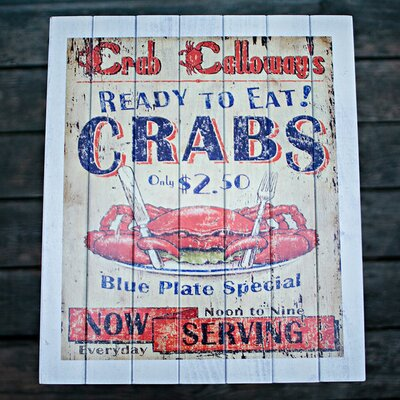 Coastal Themed Crab Shack Side Table