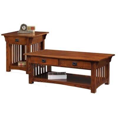 Leick Furniture Mission Impeccable Coffee Table Set