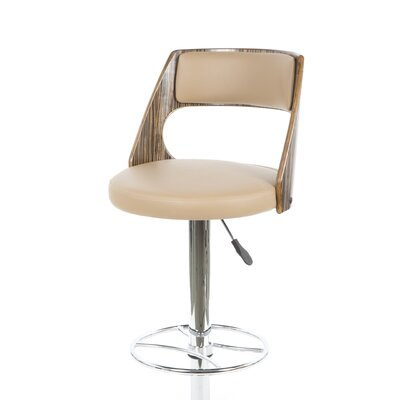 Leick Furniture Favorite Finds Saddle Bentback Adjustable Swivel Stool in Mocha