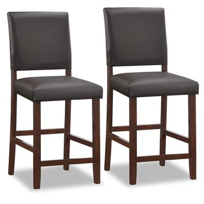 Upholstered Back Counter Stool (Set of 2)