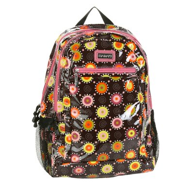 Hadaki Cool Backpack Coated in Doodle Bugs Pink