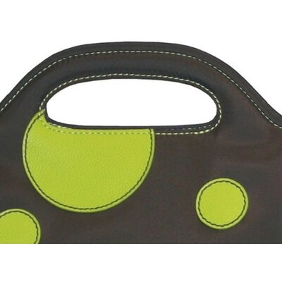 Hadaki Nylon Insulated Lunch Pod in Bubbles Green