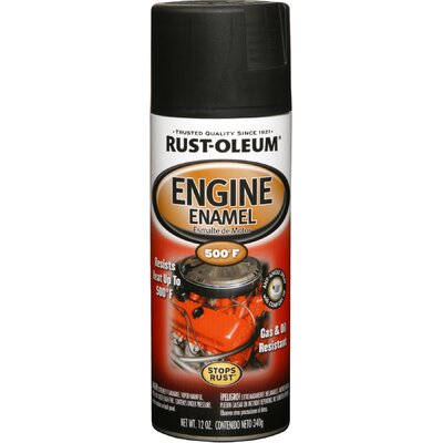 RustoleumAutomotive 12 Oz Semi Gloss Black Engine Enamel Spray Paint 248936