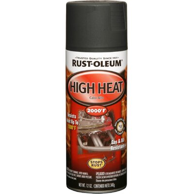 RustoleumAutomotive 12 Oz Flat Black High Heat Automotive Spray Paint