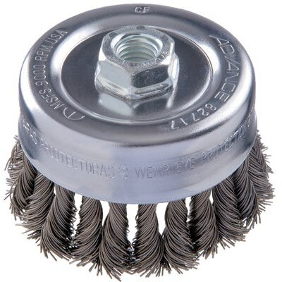 "Advance Brush COMBITWIST® Knot Wire Cup Brushes - 2-3/4"" combitwist knot cup brush .020 cs wire 5/"
