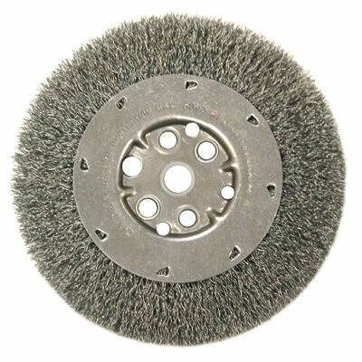 "Anderson Brush Narrow Face Crimped Wire Wheels-DM Series - dm6s .0104s/s crimped wire wheel 5/8-1/2"" ar"