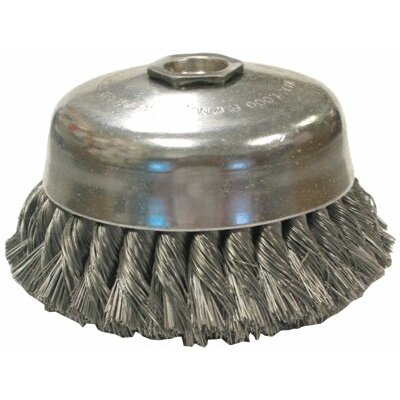 "Anderson Brush Knot Wire Cup Brushes-Single Row-US Series - jusc1-.020 4""dia knot cup brush"