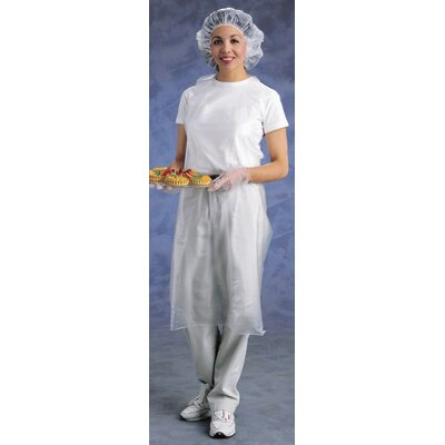 "Ansell X 36"" Clear CPP™ 4Mil Vinyl Die Cut Medium/Heavy Duty Splash Protection Apron"