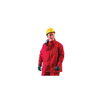 Ansell Large Sawyer-Tower CPC™ Red Polyester Trilaminate Chemical Resistant Jacket With Gore® Fabric