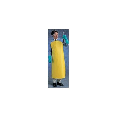 "Ansell X 48"" CPP™ Yellow Lightweight Urethane Heavy Apron With Durable Nylon Backing"
