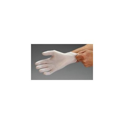 Ansell White Dura-Touch™ SS Synthetic Lightly Powdered Disposable Gloves With Smooth Finish (100 Each Per Dispenser)