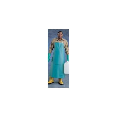 "Ansell X 45"" CPP™ 20 mil Green PVC Heavy Duty Apron With Stomach Patch"