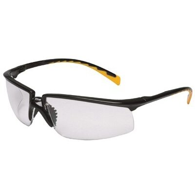 AOSafety® Privo Safety Eyewear - privo silver frame/red accent indoor/outdoor mir