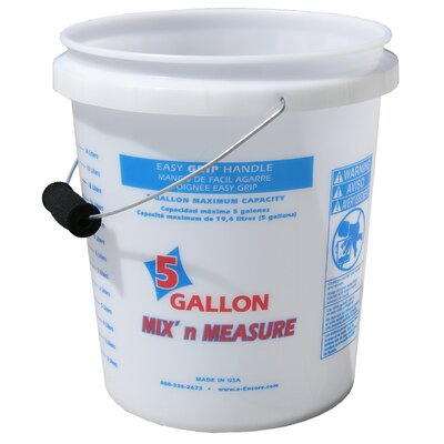 Encore Home Entertainment 5 Gallon Mix'n Measure Pail With Foam Grip Handle 56511-350001