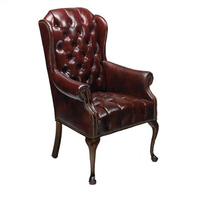Distinction leather tufted leather chair
