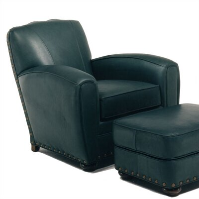 Distinction Leather Broadway Leather Chair and Ottoman