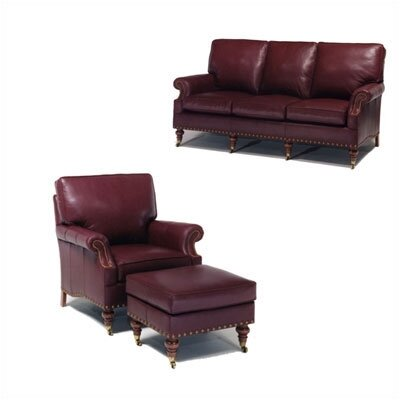 Distinction Leather Lincoln Leather Sofa and Chair Set