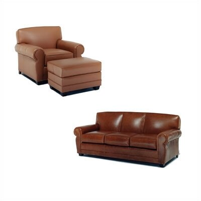 Distinction Leather Jordan Leather Sofa and Chair Set
