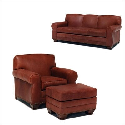 Hampton Leather Sleeper Sofa and Chair Set