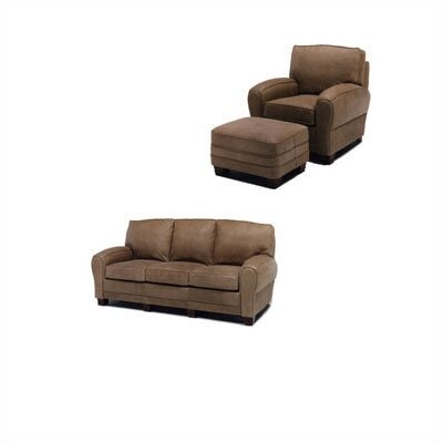 Kensington Leather Sleeper Sofa and Chair Set