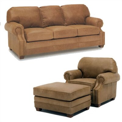 Sumner Leather Sleeper Sofa and Chair Set