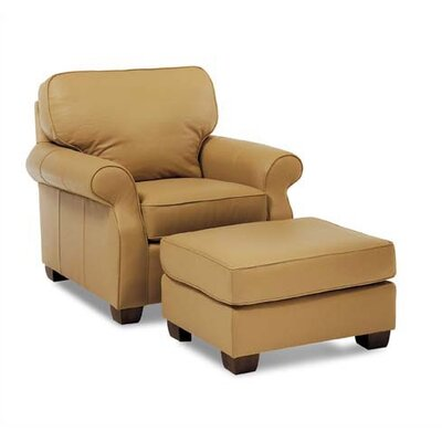 Taylor Leather Chair and Ottoman